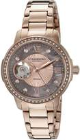 Stuhrling Original Women's 491.05 Legacy Analog Display Automatic Self Wind Rose Gold Watch