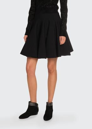 Alaia Knee Length Flounce Skirt