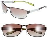 BOSS Men's 65Mm Polarized Sunglasses - Brown