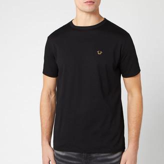 True Religion Men's Metal Horseshoe Crew T-Shirt - Black - S