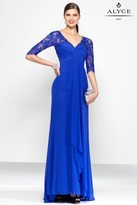 Alyce Paris Black Label - 5808 Long Dress In Sapphire