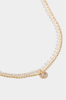 francesca's Gianna Beaded Rosary Choker - Gold