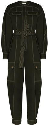 Ulla Johnson Pocket Detail Belted Cotton Jumpsuit