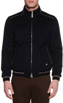 Stefano Ricci Zip-Up Cashmere Bomber Jacket, Navy