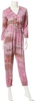 Raquel Allegra Tie Dye Silk Jumpsuit