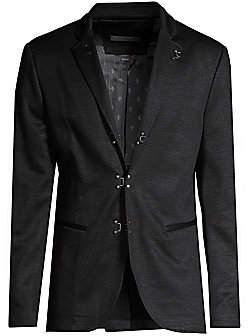 John Varvatos Men's Notch Lapel Wool Suit Jacket
