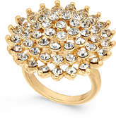 INC International Concepts Gold-Tone Pavé Flower Ring, Created for Macy's