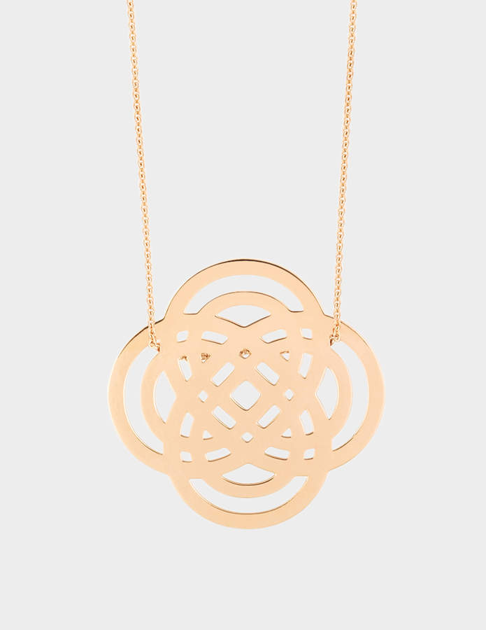 ginette_ny Baby Purity 18-karat rose gold necklace