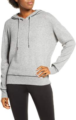 Zella Cozy Wool & Cashmere Hoodie Sweater