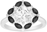 Bliss Black & White Cubic Zirconia Marquise-Cut Ring