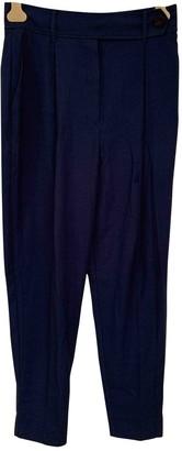 MANGO Blue Trousers for Women
