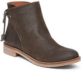 Lucky Brand Gwenore Leather Fold Over Tie-Back Leather Booties