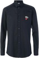 Dolce & Gabbana Prince patch shirt - men - Silk/Cotton/Spandex/Elastane/Viscose - 42