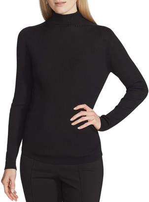 Lafayette 148 New York Fine Gauge Wool Ribbed Turtleneck Sweater
