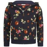 Dolce & Gabbana Dolce & GabbanaGirls Navy Floral Ladybug Zip Up Top