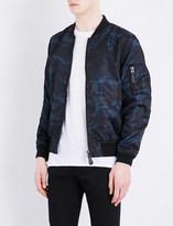 Sandro Camouflage-print shell bomber jacket