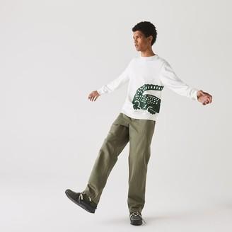 Lacoste Mens Oversize Croc Crew Neck Cotton Sweatshirt
