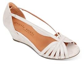 Gentle Souls by Kenneth Cole Women's Lunette Wedge Sandals