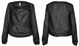 Format Lizz Longsleeved Silk Blouse - black / M