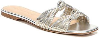Veronica Beard Gemma Metallic Knotted Flat Slide Sandals