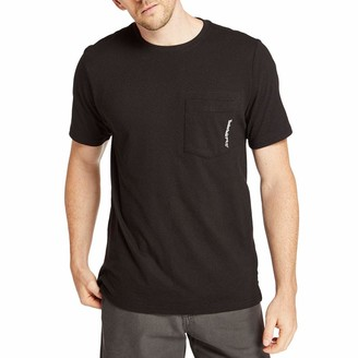 Timberland Men's A1HNS Base Plate Blended Short Sleeve T-Shirt - 3X-Large Tall - Dark Charcoal Heather
