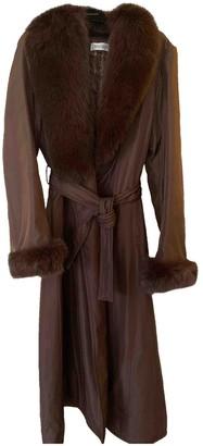 Balmain Brown Silk Coat for Women