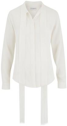 Amanda Wakeley Sinai Ecru Fringe Shirt