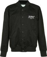 Off-White chest logo bomber jacket - men - Cotton - S