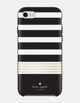 Kate Spade Hardshell Case for iPhone 7 - Stripe 2 Black/Gold