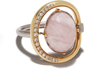 Charlotte Chesnais 18kt rose gold Project Special Surmesure pink gemstone and diamond ring