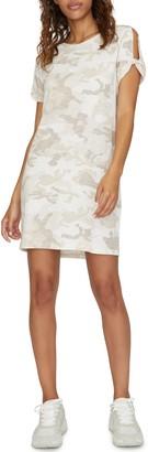 Sanctuary So Twisted Camo Print Cotton Blend T-Shirt Dress