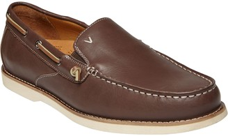 Vionic Men's Slip-On Leather Boat Shoes - Greyson