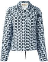 Marni Tracery print jacket - women - Silk/Cotton/Polyester - 42
