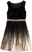 My Michelle mymichelle Velvet Bodice & Metallic Bottom Dress (Big Girls)
