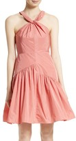 Rebecca Taylor Women's Knot Neck Taffeta Dress