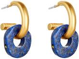 Catherine Canino Lapis Lazuli Donut Hoops