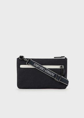 Emporio Armani Nylon Mini Bag With Logo Shoulder Strap
