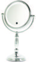Danielle Touch Button Lighted 10x Mirror With Dimmer