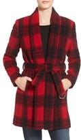 BCBGeneration Women's Shawl Collar Wool Blend Coat