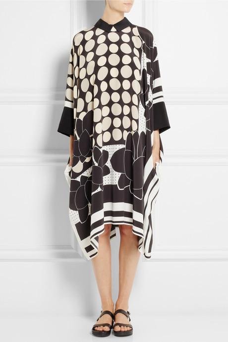 Issa Maya printed silk dress