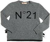 N°21 Flock Printed Wool Blend Sweater