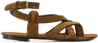Saint Laurent Culver wrap-around sandals