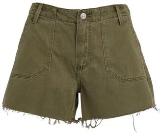 Paige Mayslie Raw Hem Utility Shorts