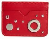 Alexander McQueen Women's Grommet & Stud Calfskin Card Holder - Red