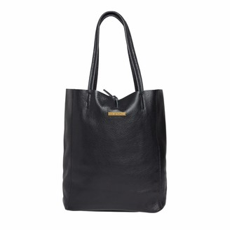 Betsy & Floss Soft Leather Tote Bag In Black