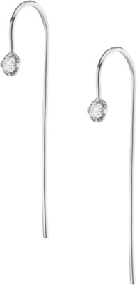 AUrate New York Long Midi Diamond Hook Earrings