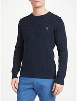 Gant Cotton Cable Crew Neck Jumper