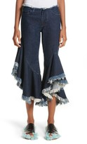 Marques Almeida Women's Marques'Almeida Frill Flare Crop Jeans