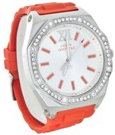 Juicy Couture 'Chelsea' Octagonal Jelly Strap Watch, 42mm