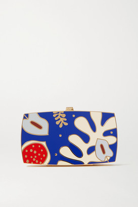13BC Sea Inside Gold-tone And Enamel Clutch - Blue